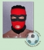 Шапка-маска чёрно-красная