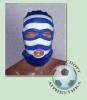 Шапка-маска бело-голубая