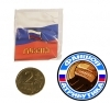Значок Россия триколор легкий металл