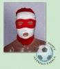 Шапка-маска бело-красная