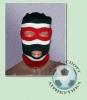 Шапка-маска чёрно-красно-белая